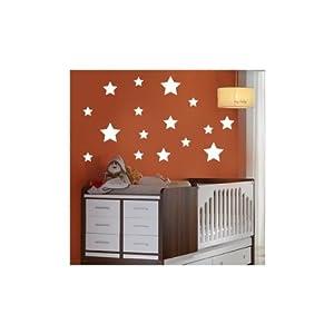 Más que Vinilos - Vinilo infantil estrella - Tamaño (60X60) - Color BLANCO