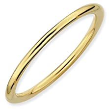 buy 1.5Mm Classic Yellow Gold Plated Sterling Silver Polished Finished Fashion Wedding Ring Band - Size 9