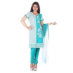 RangoliSF Woman's Cotton Unstitched Dress Material (RSFG1411 Blue)