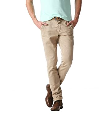 Promod Pantalon chino Homme Sable 38