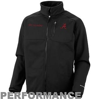 NCAA Columbia Alabama Crimson Tide Ascender II Softshell Performance Jacket - Black by Columbia