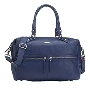 storksak caroline luxury leather diaper bag navy navy baby. Black Bedroom Furniture Sets. Home Design Ideas
