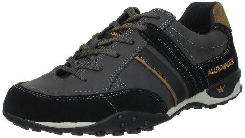 Allrounder By Mephisto - Sneaker P2002544_Noir (Black) Uomo, Nero (Schwarz (BLACK C.SUEDE 1)), 45