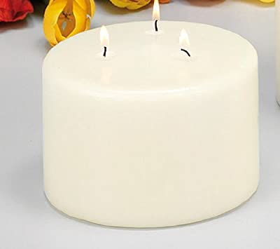 Ivory 3 Wick Pillar Candle