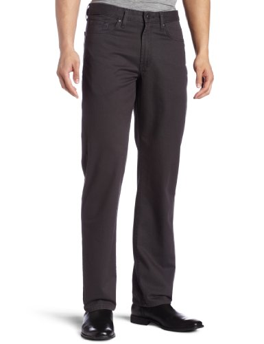 Haggar Men's Premium Plain Front Colored Twill Pant