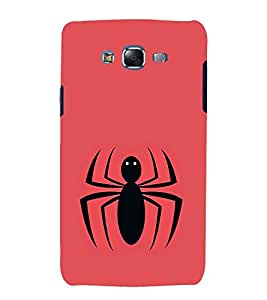 Vizagbeats Black Spider Back Case Cover for Samsung Galaxy J7 J700F