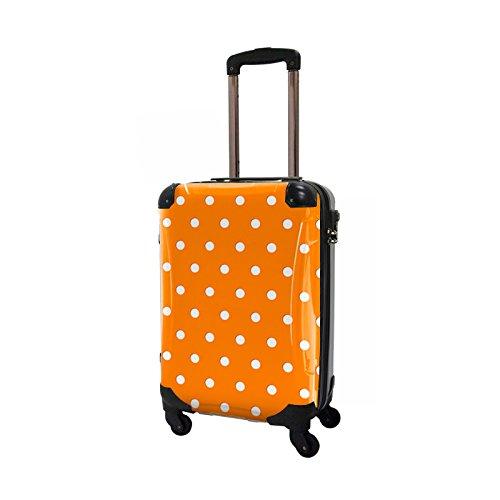 CARART(キャラート) アート スーツケース ベーシック カラードット (オレンジ) ジッパー4輪 機内持込 CRA02-028C