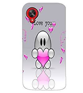 LG GOOGLE NEXUS 5 LOVE YOU Back Cover by PRINTSWAG