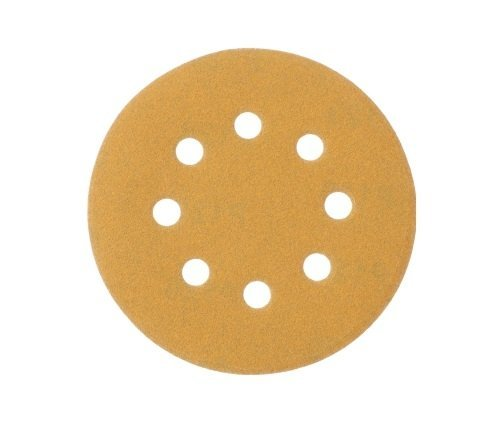 Mestool 58-AP Gold 5-Inch 8-Hole 120 Grit Dustless Hook&Loop 100-pack (120)