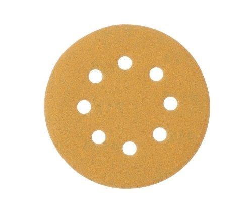 Mestool 58-AP Gold 5-Inch 8-Hole 120 Grit Dustless Hook&Loop 100-pack (120)