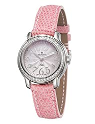 Zenith 16-1220-67-71-C533 Baby Doll Pink Dial Leather Lizard Women's Automatic Watch