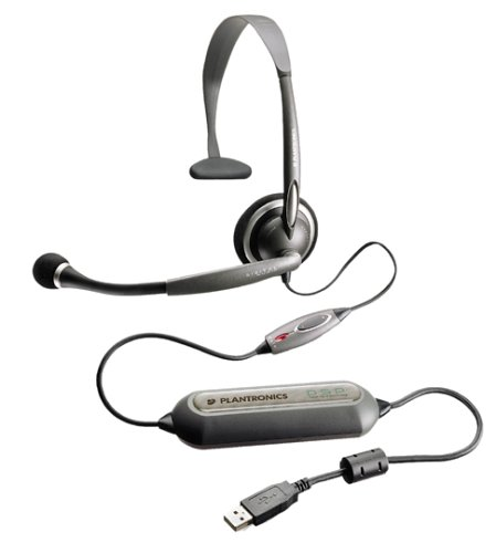Plantronics Dsp-100 Digitally-Enhanced Usb Speech Recognition Pc Headset With Software