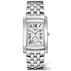 Longines Dolce Vita Men's Quartz Watch with White Dial Analogue Display and Silver Stainless Steel Bracelet L56554716
