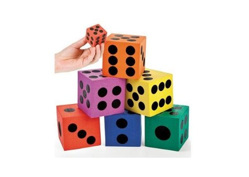 Best Review Of Foam Jumbo Playing Dice (12)