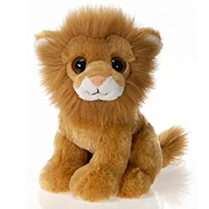 9 sitting lion with big eyes plush stuffed animal toy by fiesta toys toys games. Black Bedroom Furniture Sets. Home Design Ideas