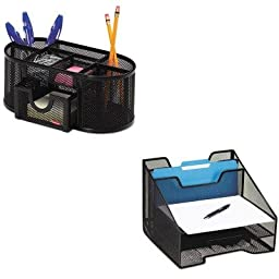 KITROL1742322ROL1746466 - Value Kit - Rolodex Combination Sorter (ROL1742322) and Rolodex Mesh Pencil Cup Organizer (ROL1746466)
