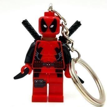 RedDeadpool Marvel SuperHeroes Keychains Minifigures figures new in sealed bag Size 4.5cm.