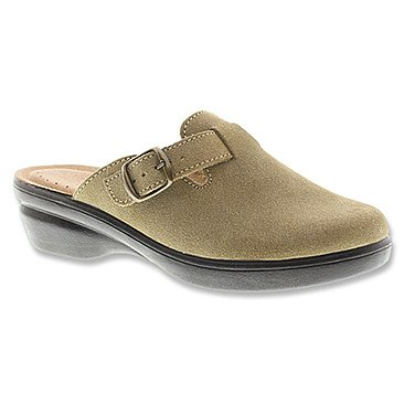 """Women's Flexus by Spring Step Clogs """"Ambler"""" - Taupe Suede (36, Taupe Suede)"""