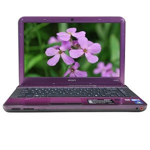 Purple Sony 14 Vaio VPCEA36FM/V Intel Middle i3 Laptop 4GB Notebook 500GB Computer PC with BLU-RAY