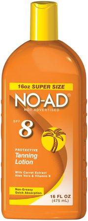 NO-AD Sunscreen Lotion 16Oz SPF8
