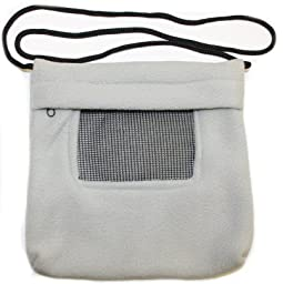 Rodent or Sugar Glider Carry Bonding Pouch with Window Gray