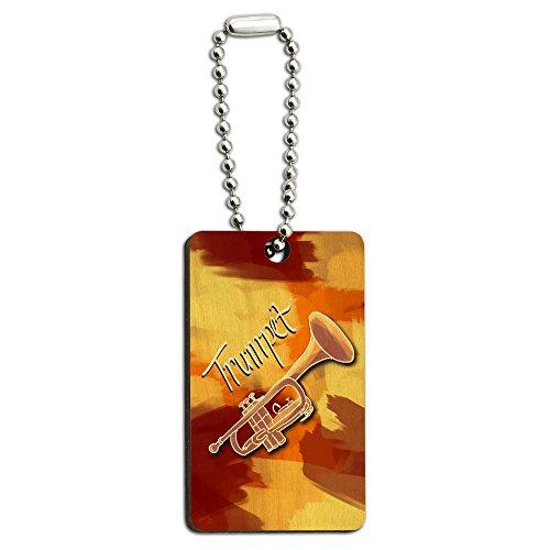 Trompete-Musikinstrument-Musik-Messing-Holz-Rechteck-Schlssel-Kette