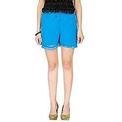 Alibi Women's Shorts (ALBR000086A0XS_Blue_XS)