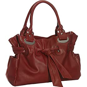 Leather ''Sofia'' Satchel by Vitalio - Dark Red, Brown or Black