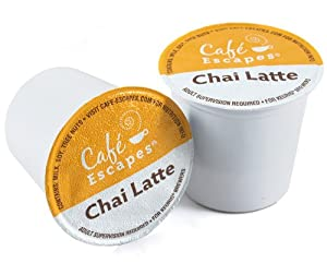 Cafe Escapes Chai Latte K-cups For Keurig Brewers 16 K-cup Box from Keurig