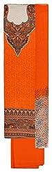 Chandni Women's Cotton Unstitched Salwar Suit Material (Orange)