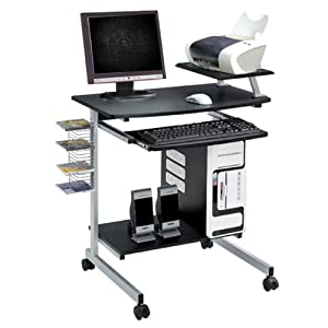 Compact Computer Desk - Graphite : Computer Desk With Wheels : Office