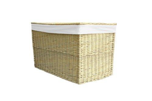 Wicker Medium Natural Storage Trunk / Basket / Toy Box / Hamper