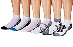 James Fiallo Mens 12-pack Low Cut Athletic Socks, Fits shoe 6-12, 2892-12