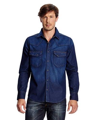 CROSS Jeans Camicia Denim [Blu Medio]