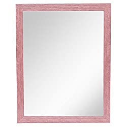 999Store pink fiber framed bathroom mirror
