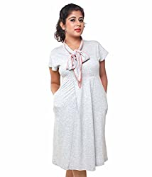 Tryfa Women's Dress (TFDRSR000057-XL-XS_White_X-Small)