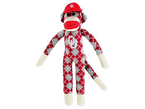 NCAA Oklahoma Sooners Argyle Sock Monkey, One Size, Red at 'Sock Monkeys'