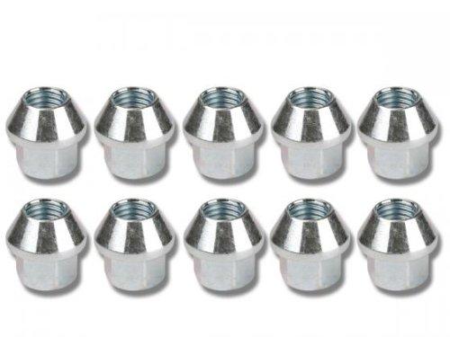 Nuts Set (10 Pieces), M12 X 1.75 Taper