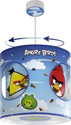 Dalber Lampe de Plafond - Suspension Rotative - Angry Birds