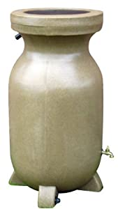 Kyoto RBSS-75 75-Gallon Rain Barrel, Sandstone-Finish