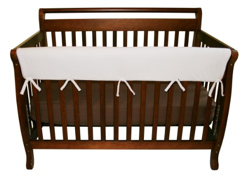 Trend-Lab Crib Wrap Rail Guard for Long Rail, White Fleece