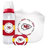 NFL Kickoff Collecton Baby Gift Set (Includes: Bib, Bottle & Pacifier) (Kansas City Chiefs)