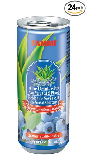 Sammi Aloe Vera Juice With Aloe Gel 240Ml (Pack Of 24) (Blueberry)