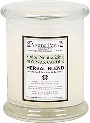 Aroma Paws Odor Neutralizing Candle, 12-Ounce, Herbal