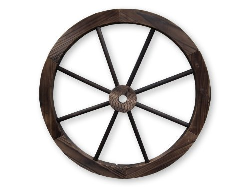 Decorative Feature Burntwood 60cm Garden Cartwheel Ornamental Wooden Cart Wheel