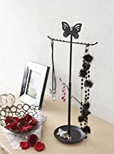 d'Oreille - Black Metal Butterfly Tree Stand for Jewelry and Accessories, Modern Jewelry Organizer