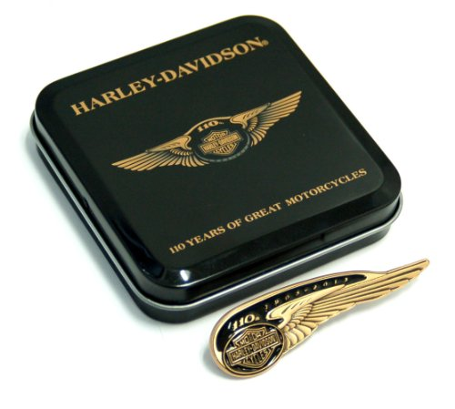 Harley Davidson 110th Anniversary Collectors Tin Tank Badge Pin
