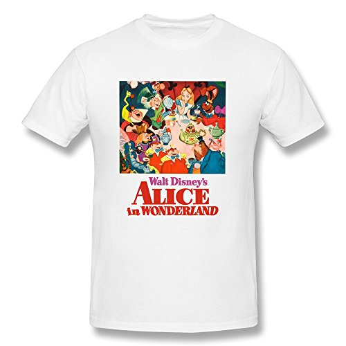 YHYT Men Shirts Alice In Wonderland Walt Disney Short Sleeve