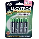 Lloytron AA 800mAh NIMH AccuPower Battery (Pack of 4)