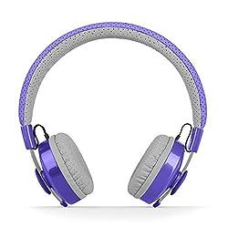LilGadgets Untangled Pro Children's Wireless Bluetooth Headphones with SharePort (Purple)